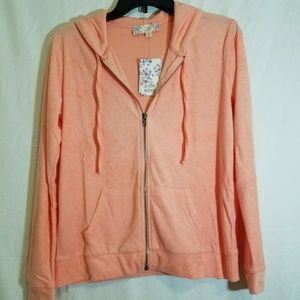 NWT!! Pink Republic Jacket with Hoodie Size L